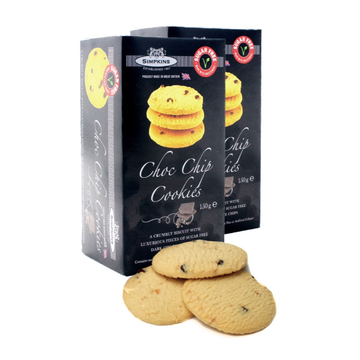 No Added Sugar Chocolate Chip Cookies Twinpack The Owl